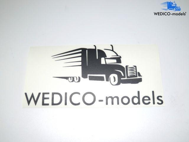Sticker Wedico-models logo black plotted 180x95mm