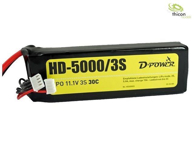 HD-5000 3S Lipo (11,1V) 30C - XT-60 Stecker