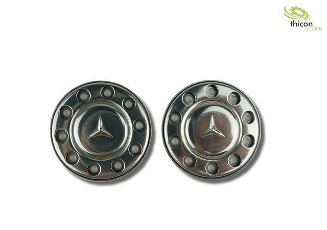 1:14 Hub cover for Euro rims with star in stainless steel