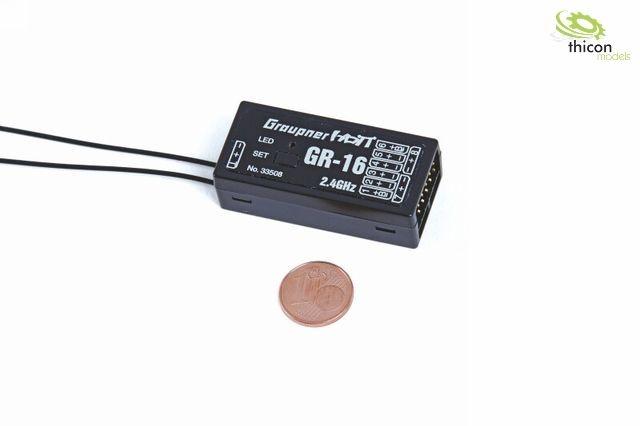 Empfänger GR-16 HoTT, 2,4 GHz, 8 Kanal