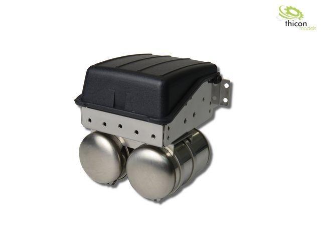 1:14 Batteriekasten schmal aus V2A für Tamiya LKW