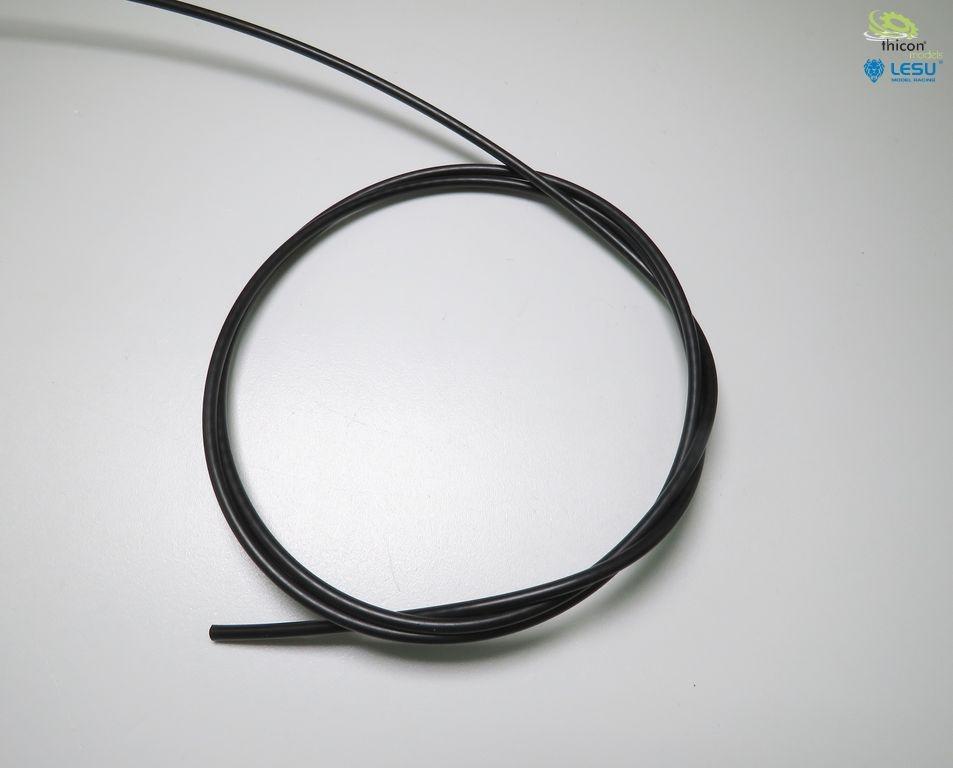 Hydraulic hose 1m black 2.5 / 1.5mm up to 30bar
