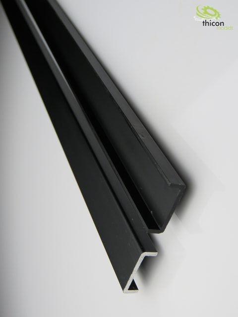 1:16 Rahmen Alu schwarz 650mm ungebohrt 2Stück