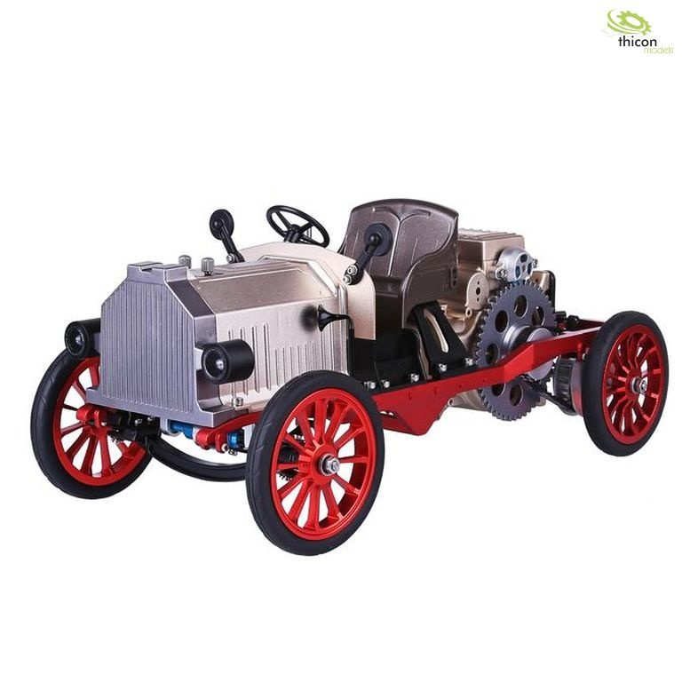 Classic car made of metal with electric motor and Bluetooth