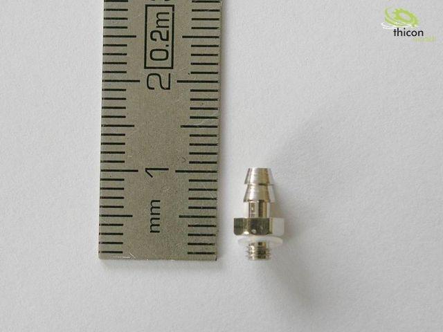 Hydraulik Einschraubnippel gerade M3/1,5 1 Stück
