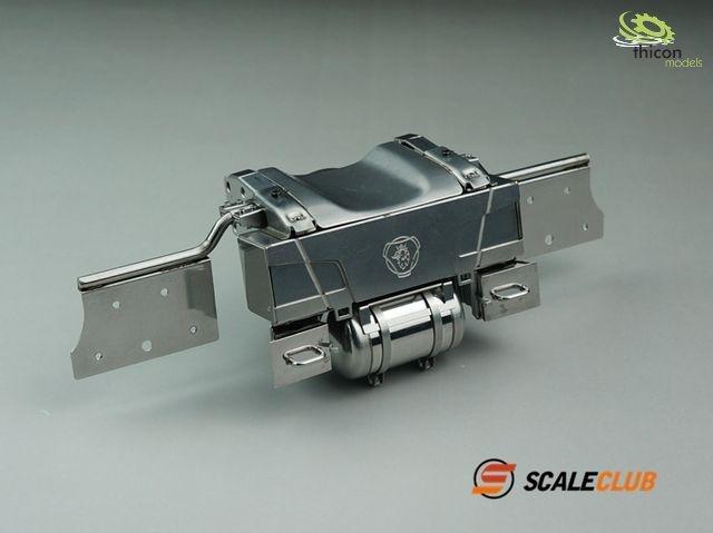 1:14 Hecktraverse komplett für Scania Edelstahl