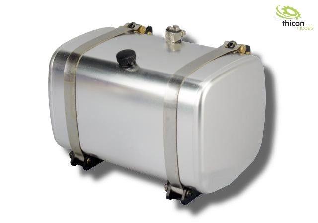1:14 Kraftstoff/Hydrauliktank 85mm mit Tankhalter Alu