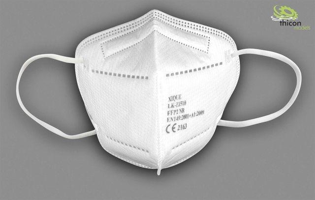 Maske FFP2 NR 20 Stück im Karton einzeln verpackt