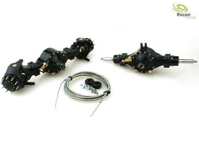 1:16 4x4 Achspaket sperrbar Metall schwarz 3:1