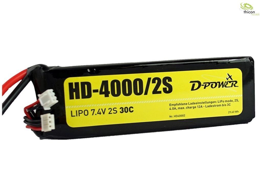 HD-4000 2S Lipo (7,4V) 30C - T-Stecker