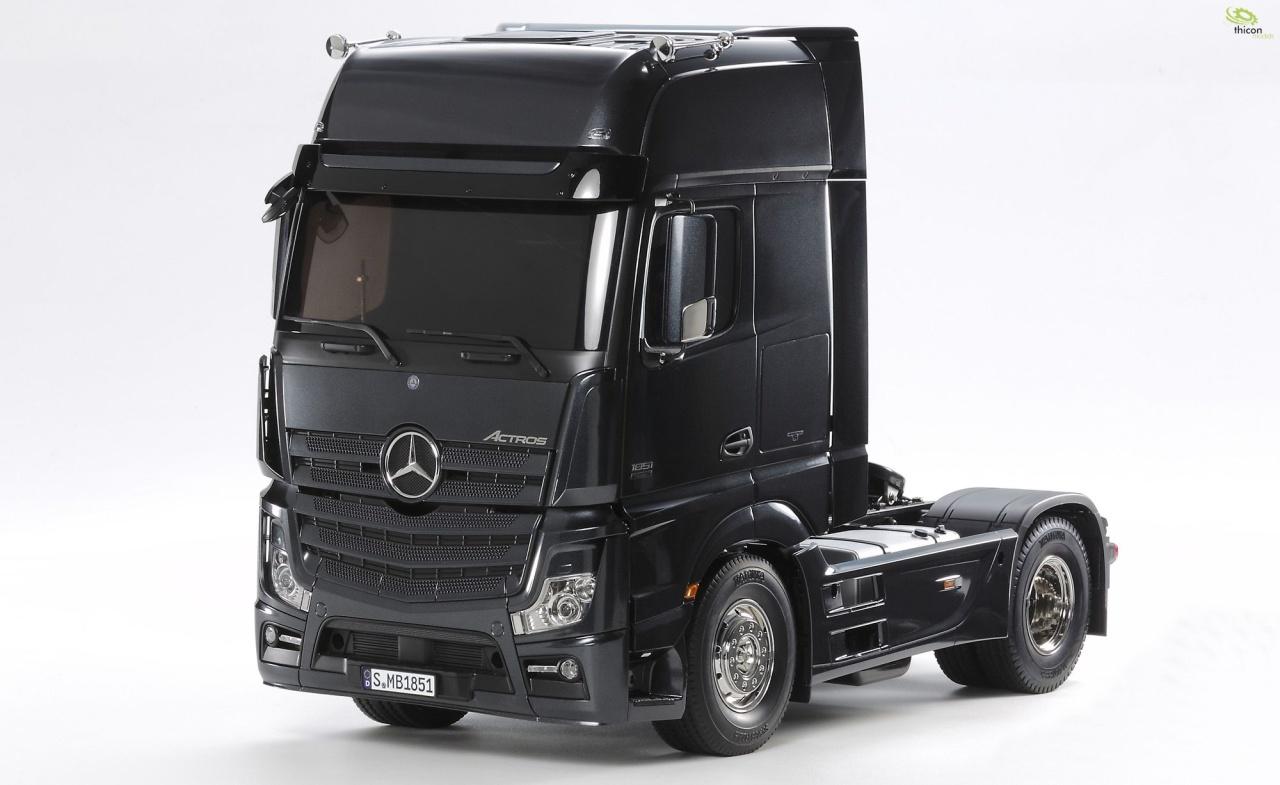 1:14 RC Mer.Benz Actros 2 Giga (schwarz) 4x2