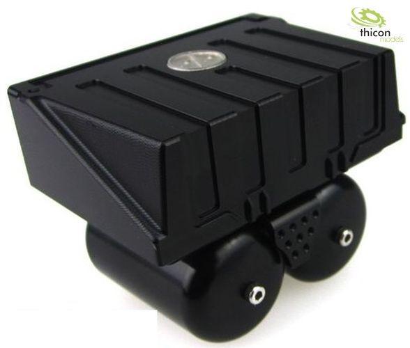 1:14 / 1:16 Batteriekasten mit Kesseln aus Alu schwarz
