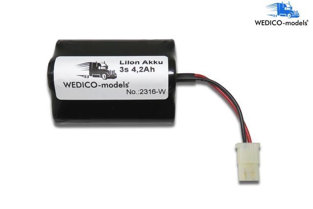 Battery 11.1V 4.2Ah LiIon with AMP and protection electronic