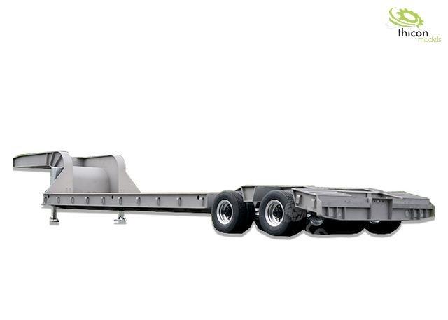 1:14 low loader semi-trailer 2-axle with pendulum axles