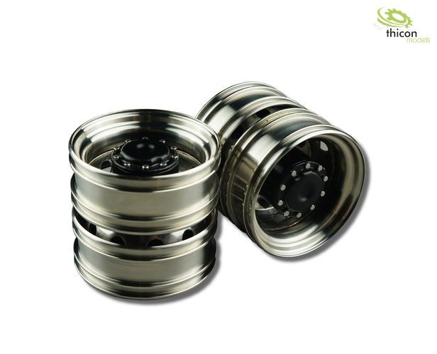 1:14 Euro rims stainless steel drive axle
