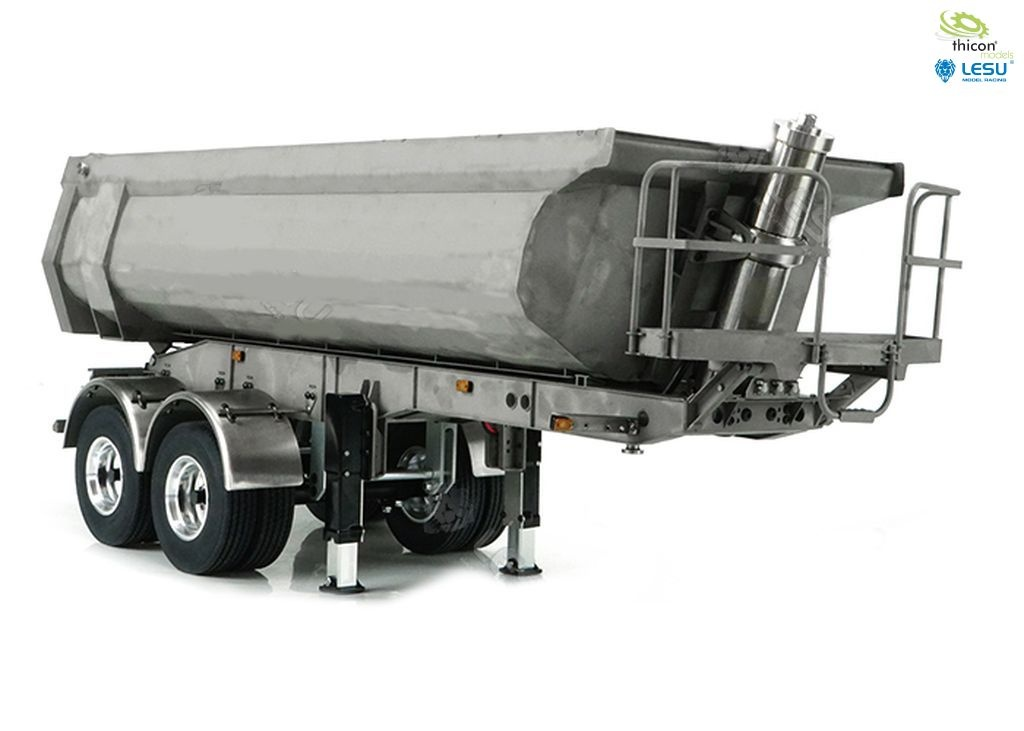 1:14 Half Pipe semi-trailer 2-axle with hydraulics