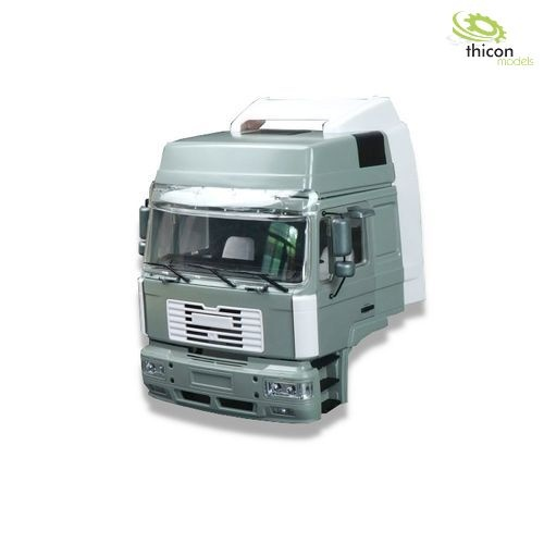 1:14 drivers cab MAN F2000 with high roof kit made of metal