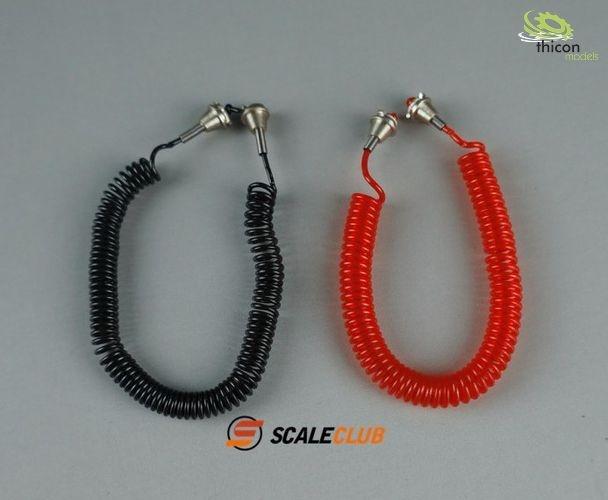 1:14 Druckluft-Kabel Satz rot/schwarz