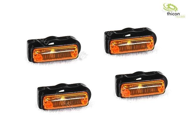 1:14 side marker lights with LED 2V 12mA 4 pieces