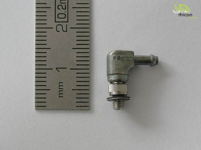 Schwenknippel, abgewinkelt, M3/1,5mm
