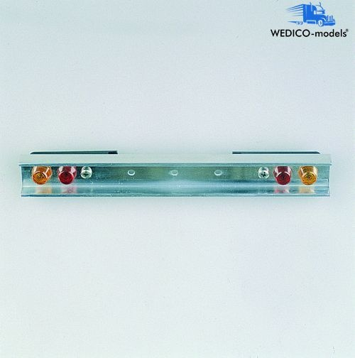 Bumper, polished aluminum with round