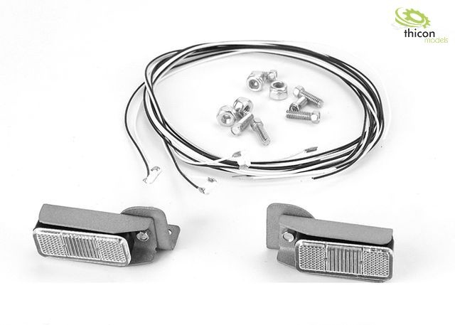 Taillights with metal holder and LEDs for construction machi