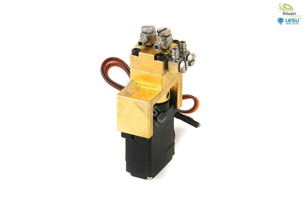 Hydraulic control valve 1-way brass with 12mm mini servos