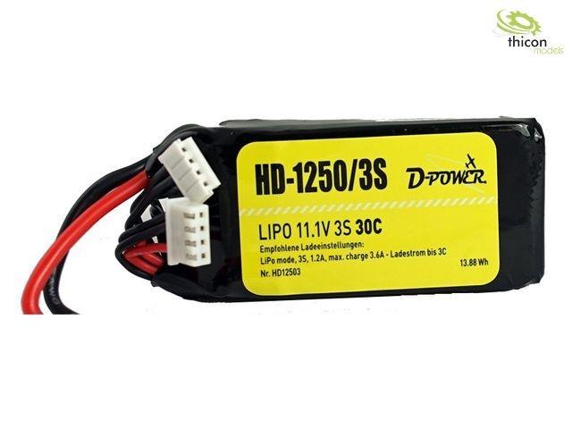 HD-1250 3S Lipo (11,1V) 30C - T-Stecker