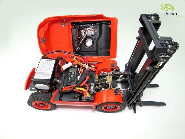 1:14 forklift Linde H40D V2 fully assembled without RC