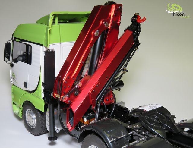 1:14 Ladekran Bausatz mit Hydraulik und Servos