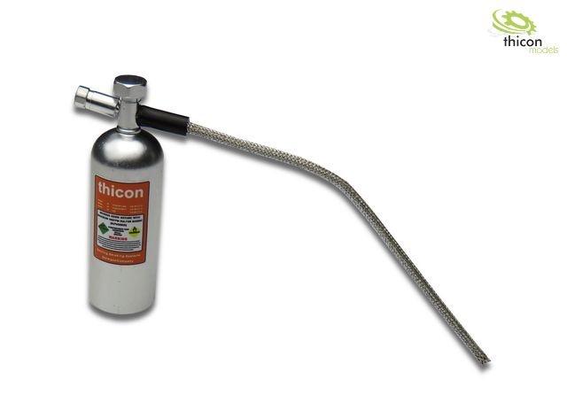 1:10 Lachgas-Druckflasche Alu silber mit Aufkleber