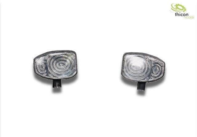 Headlights for construction machines with LEDs