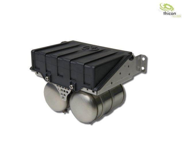 1:14 Batteriekasten breit aus V2A für Tamiya LKW