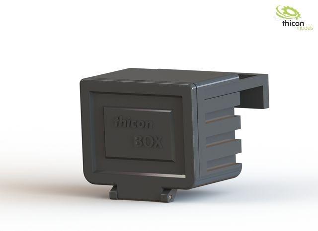 1:14 Staubox mit Halter für LKW und Auflieger