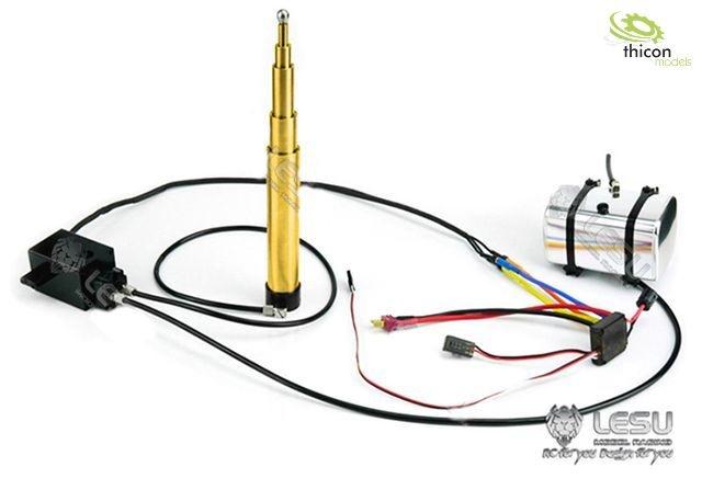Hydraulic SET telescopic cylinder 130-475mm brass