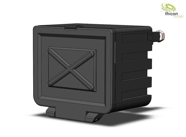 1:14/1:16 Staubox V2 mit Halter für LKW und Auflieger
