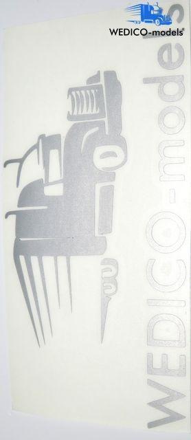 Sticker Wedico-models logo silver plotted 180x95mm