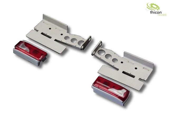 1:14 Euro taillights with stainless steel holder