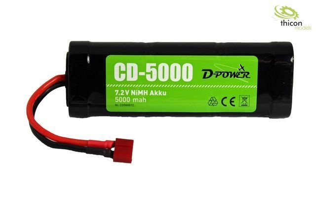 CD-5000 7.2V NiMH Akku mit T-Stecker