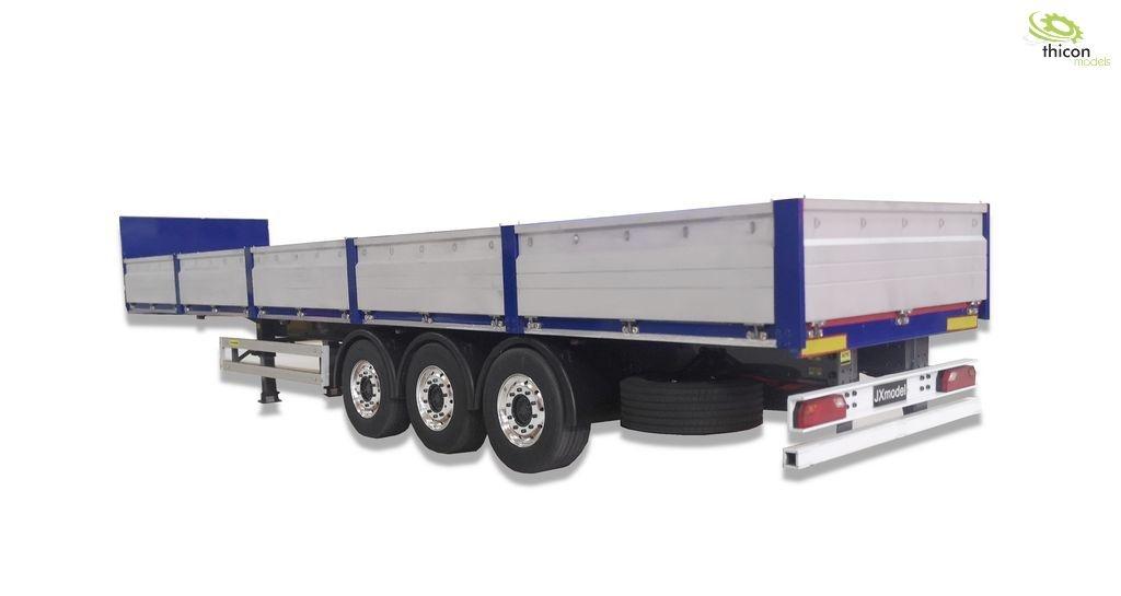 1:14 3-axle flatbed semitrailer