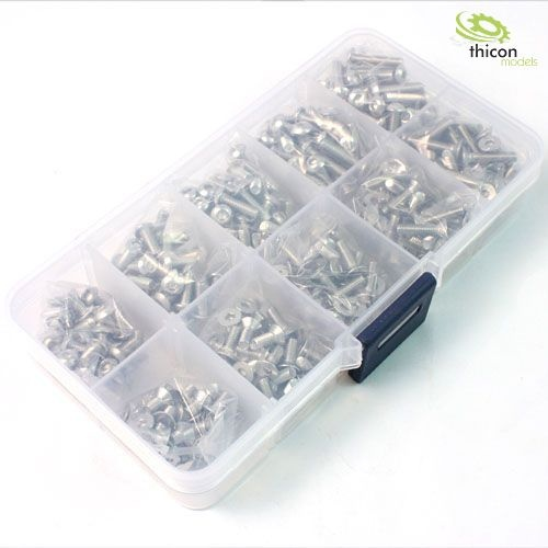 Stainless Steel Screw Assorted Set (400pcs) in Box