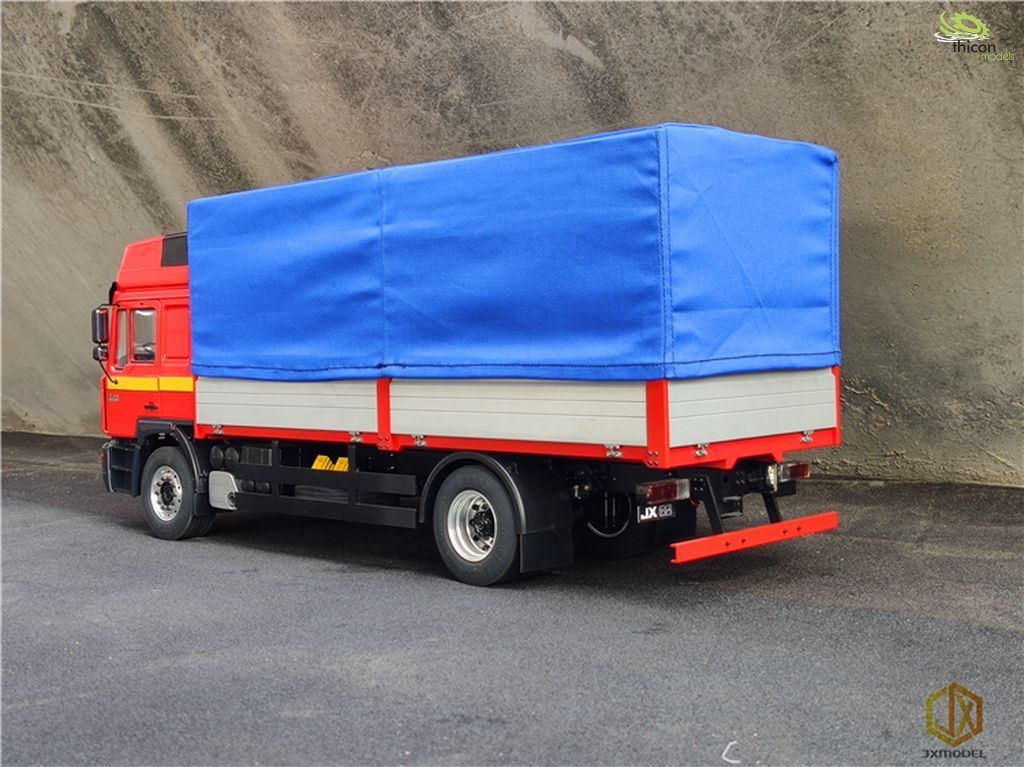 Tarpaulin blue fabric with aluminum frame for flatbed
