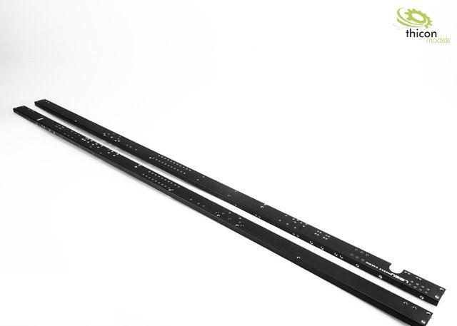 1:14 Rahmenprofil 3-Achs Extralang Alu schwarz mit Gewinde