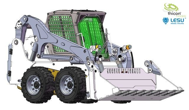 1:14 compact loader with wheels white / black kit