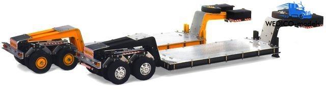 Low-loader semi-trailer, black