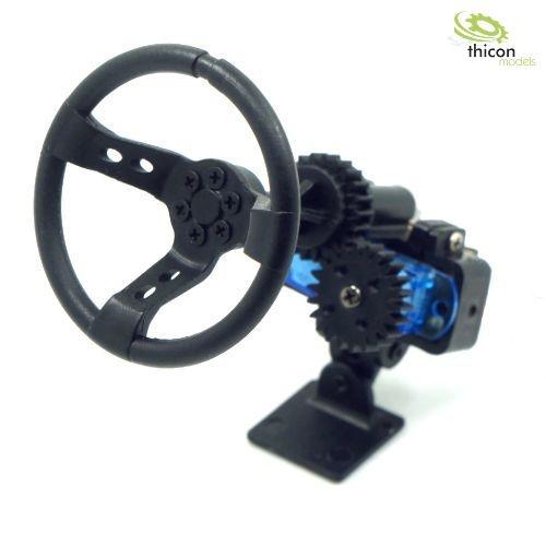1:10/1:14 Automatik-Lenkrad mit Servo Bausatz