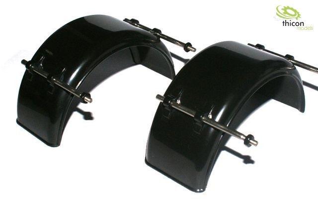 1:14 Kotflügel schmal Kunststoff schwarz mit Halter Paar