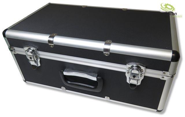 Transportkoffer mit Alurahmen und ABS-Korpus schwarz
