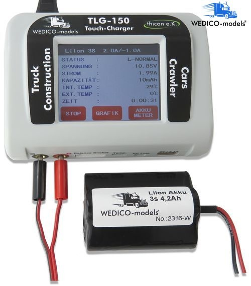 TLG-150 Touch charger for trucks and construction machinery