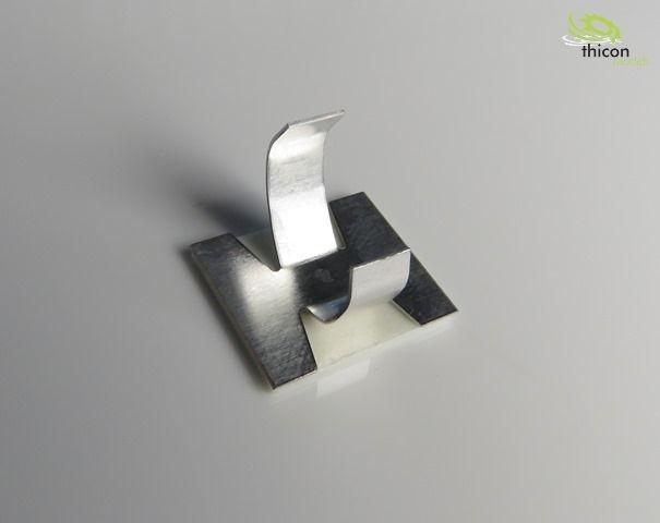 Kabelschelle groß selbstklebend Metall 8 Stück